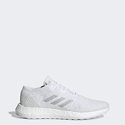 adidas Men's Pureboost Go, White/Solid Grey/Crystal White, 11.5 M US