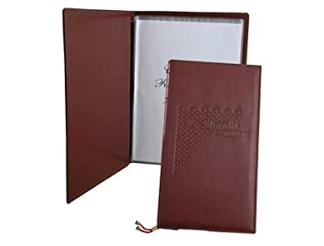 PORTA MENUS POLIPIEL MARRON CARTA DE MENU Y VINOS: Amazon.es ...