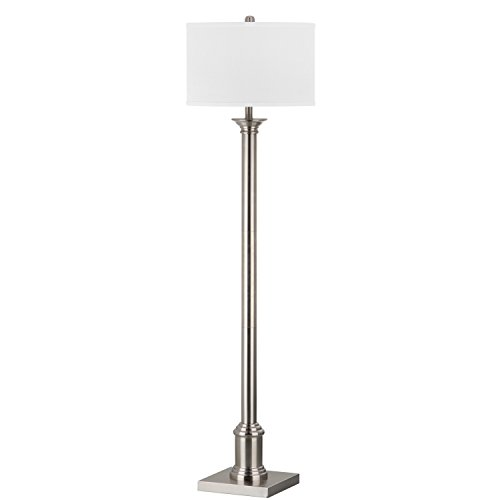 Safavieh Lighting Collection Livia Nickel 60-inch Floor Lamp