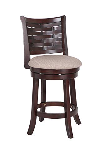 (New Classic Furniture New Classic S1212-CS-FC Preston Counter Height Swivel Stool, Cherry,)