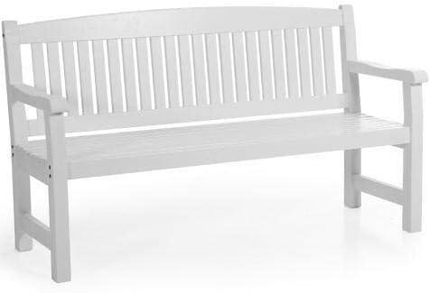 Sofá de 3 plazas para jardín, banco de madera, banco, bancos de madera maciza de pino, color blanco: Amazon.es: Jardín