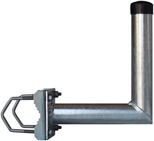 Anka de Digital barandilla Soporte L de Forma balkonhalterung 25 cm Ø 48 mm galvanizado Brazo con Abrazaderas para satélite (Antena Parabólica