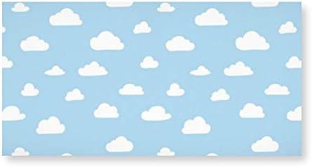 INOV 青い背景パターン 白い漫画 雲 アートパネル アートフレーム おしゃれ 壁掛け インテリア 絵 アートパネル モダン インテリアアートパネル アートパネル 玄関 に 飾る 絵画 20*40cm