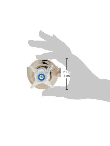T/&S Brass 0RK2 Shut-Off Control Valve 4-Arm Handle Concealed Body Blue Index Adjustable Flange