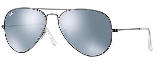 Aviator Gunmetal Mirror Matte Silver Rb3025 Sunglasses Metal Ray Ban green YBvazqat