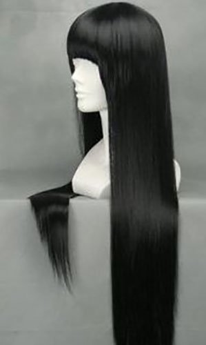 Amazon.com: tokyo-t Kikyo peluca Inuyasha cosplay pelo largo ...