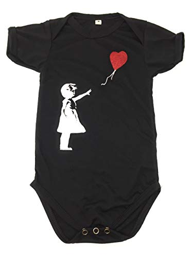 - Sidecca Cute Animal Print Unisex Short Sleeve Baby Bodysuit Onesie (Small, Banksy (Girl Balloon))
