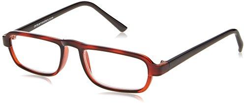 (Dr. Dean Edell Select 1/2 Eye Rectangular Glasses, Tortoise (+2.25))