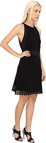 See by Chloe Women's S/L Dress w/ Tie in Back Black Dress 40 (US 4)