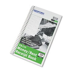 -- Money and Rent Unnumbered Receipt Book, 5 1/2 x 2 3/4, Two-Part, 200 Sets/Book by MOT3