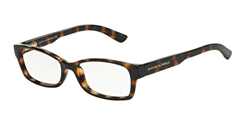 Armani Exchange AX3017 Eyeglass Frames 8117-52 - Dark Tortoise
