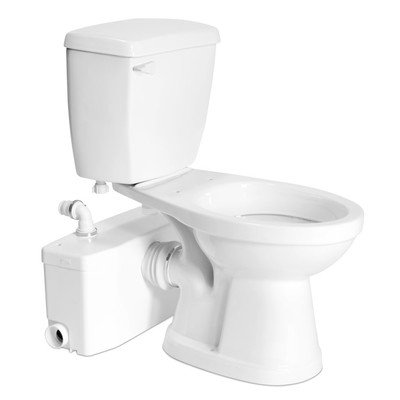 0.375' Extension (Bundle-12 Elongated Toilet with Saniplus (5 Pieces) Finish: White)