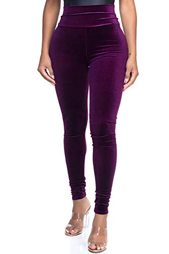 Women's Junior Plus J2 Love Velvet High Waist Leggings, 1X, Plush ()
