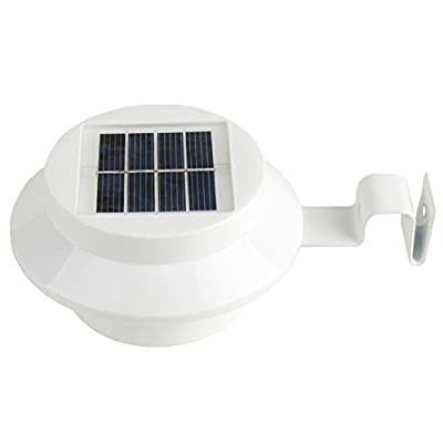 CHUANGLI LED Solar Lamp Garden Wall Lamp 3-LED Solar Powered Energy Saving Solar Lamp for Landscape Yard Fence Gutter Roof Wall Backyard Lighting