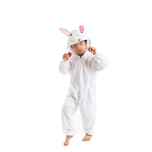 (Dance Art Kindergarten Children's Halloween Cosplay Jumpsuit Costume,White Rabbit [conse)