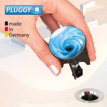 WENKO Pluggy Waschbeckenstöpsel Water