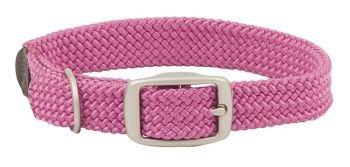 Braid Leather Bridle - Mendota Double-Braid Collar with Brush Nickle Hardware, Purple, 1
