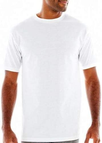 Stafford 4-Pack Mens Heavy Weight 100/% Cotton Crew-Neck T-Shirt White