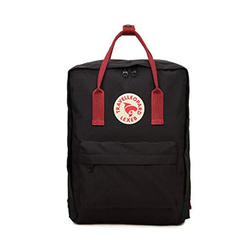 rossa Casual Zaini Viaggio Sportivo Zaino scuola Marsupi PC trekking per Banda da nera da sportivi Fitness Libros Borsa qHawSS