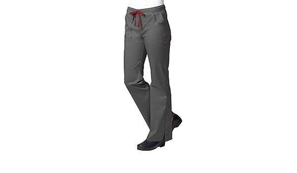 Maevn Women/'s Multi-Pocket Flare Pants Charcoal, Large Petite
