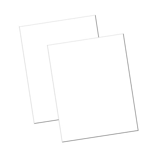 Riverside Paper 104225 White Poster Board, 22 x 28, 100 - Recycled Board Poster