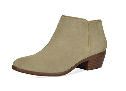 TOETOS Women's Dallas Natural Suede Leather Cowboy Ankle Booties - 11 M US for $<!--$27.99-->