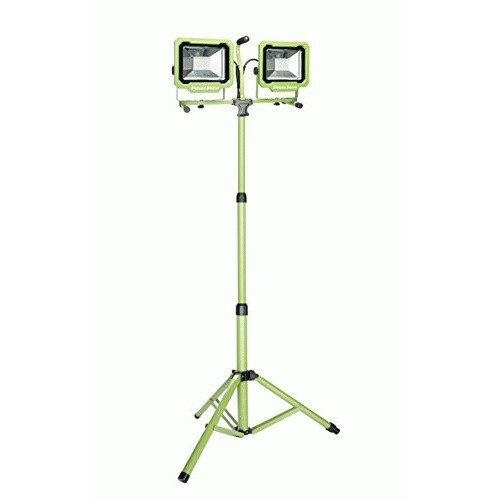 PowerSmith PWL2172TS 2 Head LED Work Light with Adjustable Releasable Metal Tripod Stand, 7500 Lumens