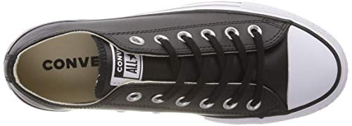 Converse Noir Black Sneakers 001 Femme white Ox Clean black Ctas white Basses black Lift rIqwrz