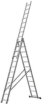 Escalera Triple Tijera 3.5 Metros, Profesional de Aluminio 3 Tramos Extensibles (3.5+3.5+3.5 mts). Escada Tripla (3.5+3.5+3.5 mts): Amazon.es: Bricolaje y herramientas
