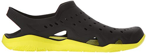 crocs Men's Swiftwater Wave M Flat,black/tennis ball green,4 M US by Crocs (Image #8)