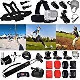 Xtech BASEBALL ACCESSORIES Kit for GoPro Hero 4 3+ 3 2 1 Hero4 Hero3 Hero2, Hero 4 Silver, Hero 4 Black, Hero 3+ Hero3+ Hero 3 Silver, Hero 3 Black and for basketball, Soccer, Football, Golf, Golfing, Tennis, Baseball, Volleyball, Beach-ball, Hockey, Ice Hockey and other Similar Sport Activities Includes: + Head Strap Mount + Helmet Harness Mount + Chest Strap Mount + 2 J-Hook Mount + Camera Wrist Mount + Selfie Stick Monopod Pole + MORE
