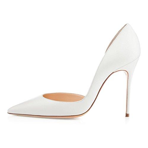 Escarpins Blanc Bout Mariage Fermé Femme Escarpins Femme Soireelady Beige Classique Soiree Chaussures qBntPWza