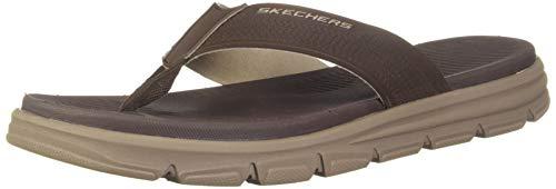 Skechers Men's Wind Swell-Butterlake Brown Flip-Flops-8 UK (42 EU) (9 US) (51741-BRN) (B07HBL15YP) Amazon Price History, Amazon Price Tracker