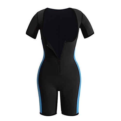 Female Fat Suit Bodysuit (Hot Thermo Sauna Bodysuit Full Body Shaper Sports Tummy Control Fat Burner for Women (2XL, Black))
