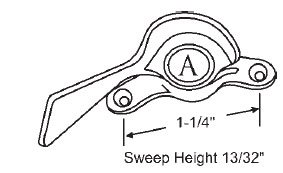 STB Sweep Lock, Bronze Casting, White Bronze, 1-1/4'' Screw Holes