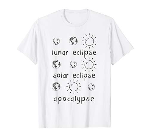 Lunar Solar Eclipse and Apocalypse T-Shirt Cool Science Gift (Edu Science Solar Eclipse Sun Catcher Binocular)