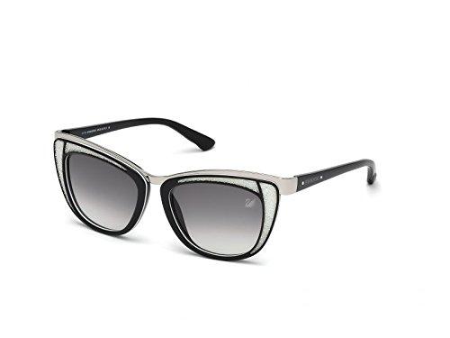 Swarovski Women's Diva Wayfarer Sunglasses,Black,53 ()
