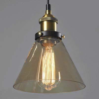 Amber farbene Cristal de lámpara de techo colgante Pantalla ...