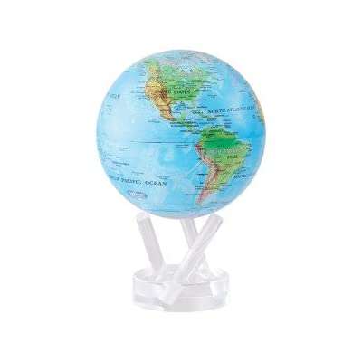 """Mova Relief Map Blue Globe 6"""": Toys & Games"""