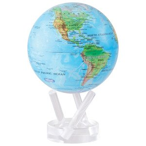 6'' Blue with Relief Map MOVA Globe by Mova