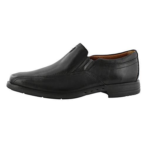 CLARKS Men's UnSheridan Go Slip On Dress Loafer-Wide Black 8.5 W US