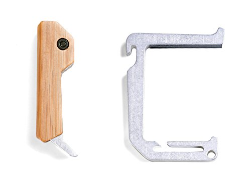Tumbled Aluminum Loop Hook With Bamboo Wall Mount
