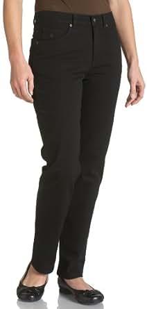 Gloria Vanderbilt Women's Petite Amanda Classic Fit Jean, Black, 4 Petite