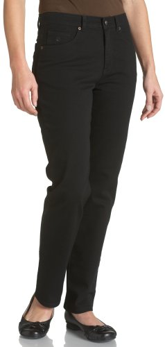Petite Classic Fit Pants - Gloria Vanderbilt Women's Petite Petite Amanda Classic Tapered Jean Pants, black, 8P Short