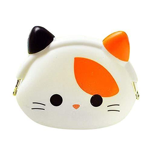 Clearane !!One Dollar Women Girl Child Mini Coin Key Purse Soft Surface Cute Cartoon Animal Wallet Zipper Bag ()