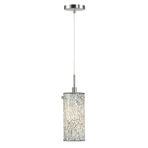 (Woodbridge Lighting 13423STN-M10WHT 1-Light Mini-Pendant, Satin Nickel)