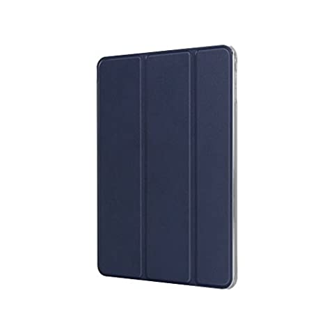 Patchworks PURE COVER Navy for iPad Mini 4 - Transparent Clear Smart Folio Stand Slim Fit Case (Ipad 4 Back Housing)