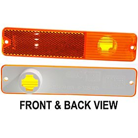 68-86 Jeep Cj-Series Side Marker Lamp Assy Front L=R 80-83 Jeep Wagoneer 84-91 Jeep Grand Wagoneer 80-83 Jeep Cherokee ()