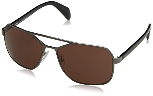 Prada Men's 0PR 54RS Brushed - Hut Prada Sunglass Mens