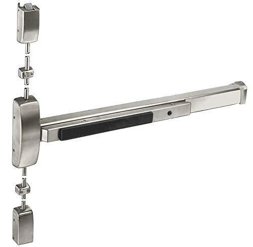 (Sargent Exit Device, Series 80, Dull Stainless Steel, Vertical Rod w/Trim - 8710F RHR 32D)